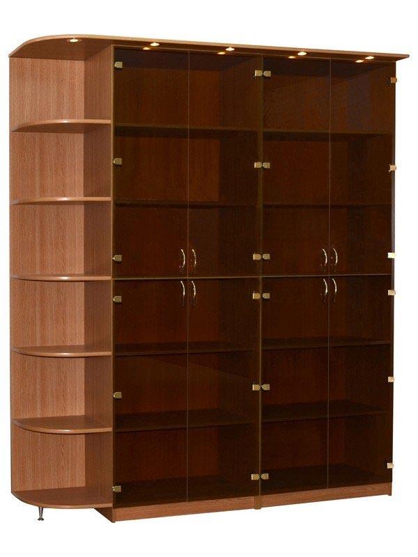 Библиотека 2-х секционная с угловым элементом шкафы книжные .